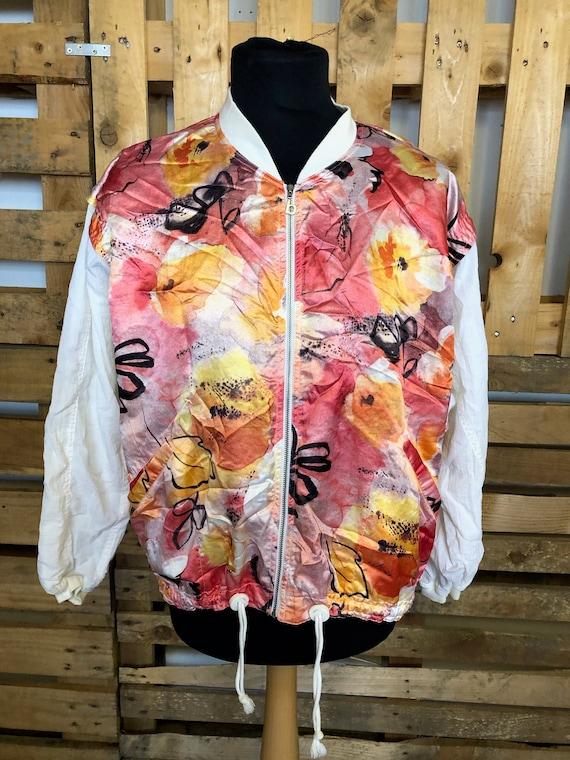 Vintage Festival 80s Shell Suit Jacket funky retro rave windbreaker M