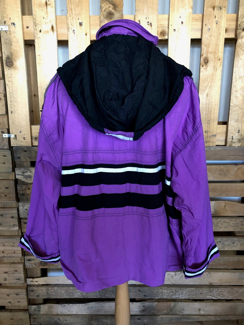 NOTE elastic stretchedgone funky retro rave windbreaker size XL Vintage Festival 70s80s Track Suit Jacket