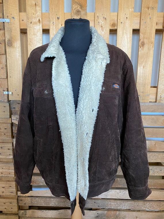 DICKIES Vintage Teddy Collar Denim Jacket - retro