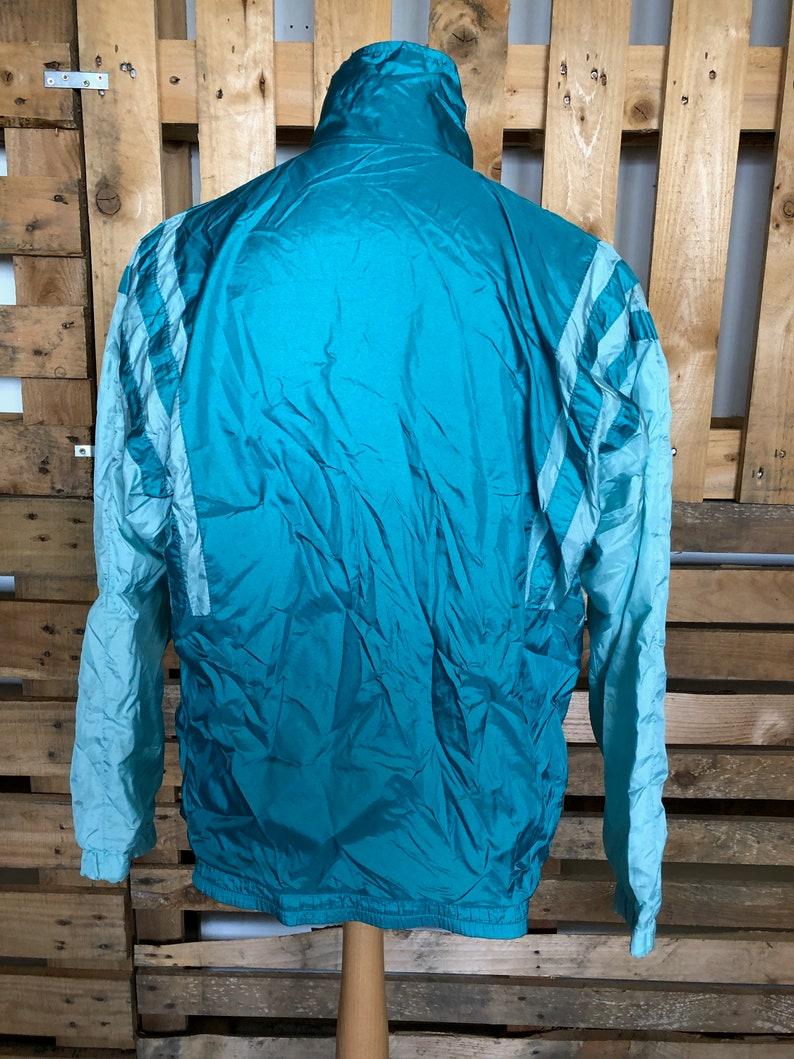 Vintage Festival 80s Shell Suit Jacket NOTE elastic gone funky retro rave windbreaker ML
