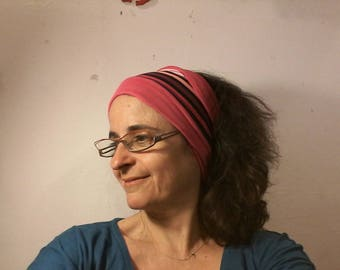 Reversible striped headband