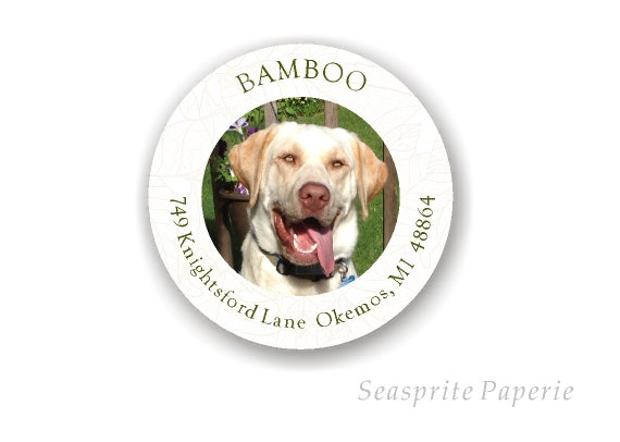 dog address labels stickers address labels with dog makes etsy