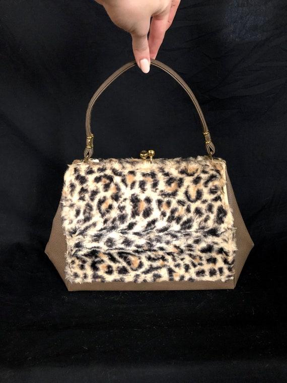 DEADSTOCK Vintage 1960's Leopard Faux Fur and Viny