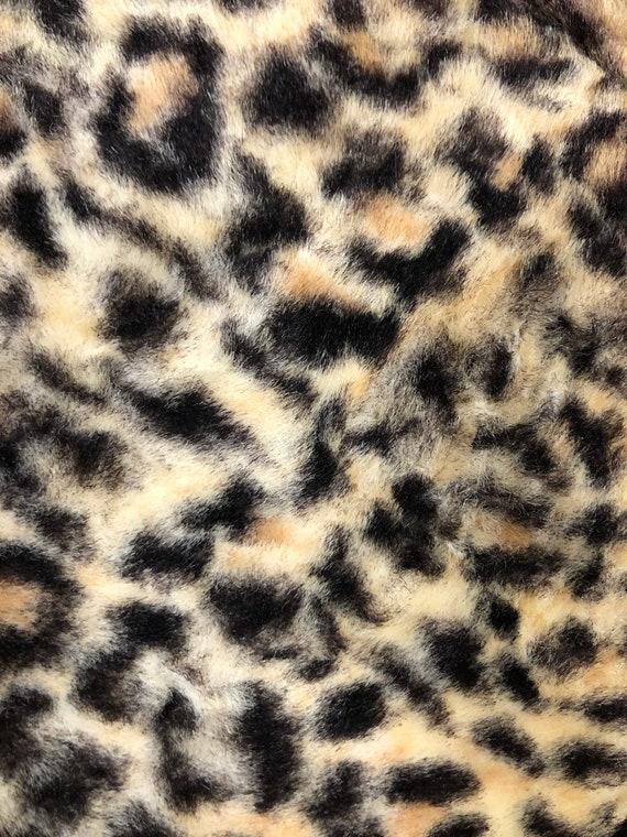 Vintage 1960's Leopard Faux Fur and Vinyl Top Han… - image 9