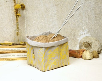 Utensilo, Vegan Leather, Organizing Basket, Printed Storage Bag, Vegan Home Decor, Project bag, Planter, Meadow, Paper Box, Green Lifestyle