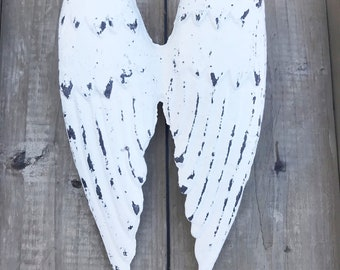 Off-White Angel Wings / Cast Iron Wings / Baby Nursery Wall Decor / Rustic Shabby / Gallery Wall Art / Religious Christian Gift