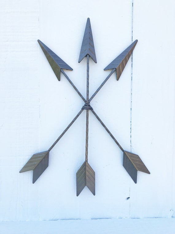 decor japan wall coat rack hat clothes bag hook decorative.htm bronze arrow wall decor 3 arrows boho home and garden etsy  bronze arrow wall decor 3 arrows