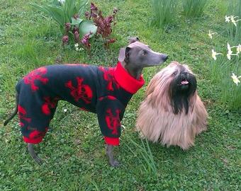 Italian Greyhound Pajamas / Italian Greyhound Sweater / Skull Pattern Pajamas