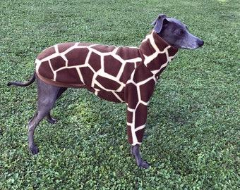 Italian Greyhound Shirt / Italian Greyhound Fleece / Italian Greyhound Coat / Pajamas Patterned Giraffe / Giraffe Coat