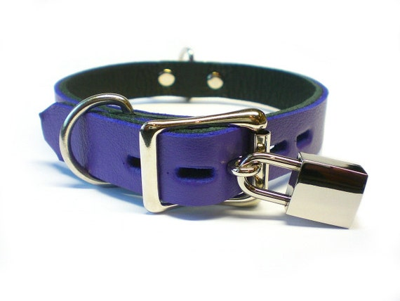 Baby doll custom bondage bdsm collar Purple discreet collar personalised with the words baby girl for the perfect DDLG collar