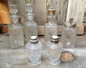 Scottish Antique Silver with cut glass Victorian Cruet set