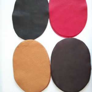 Gold Deerskin Leather Elbow patch kit 5\u201d x 3.5\u201d