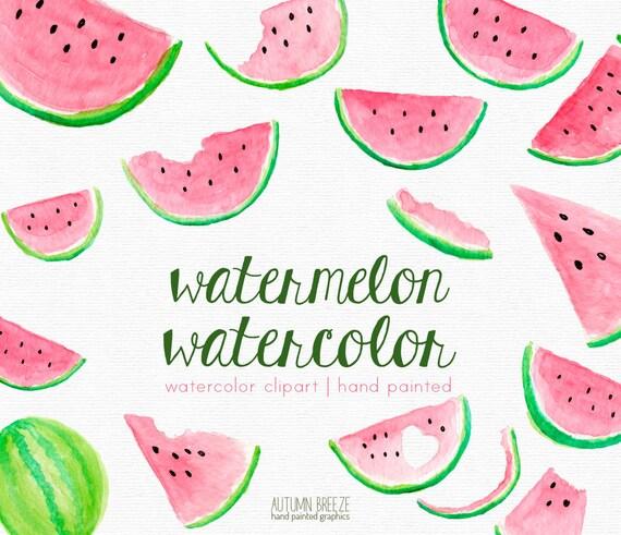 watermelon clipart watercolor clipart clipart pink clip art etsy