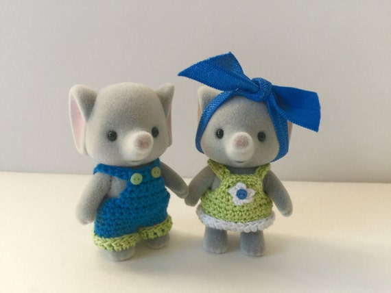 Pdf Crochet Pattern For Calico Critter Sister And Brother Etsy