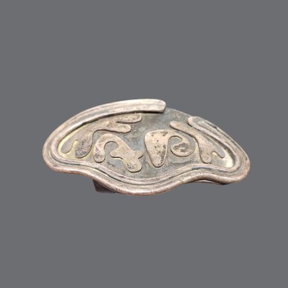 Art Smith Copper belt BUCKLE buckle Signed Art Smi