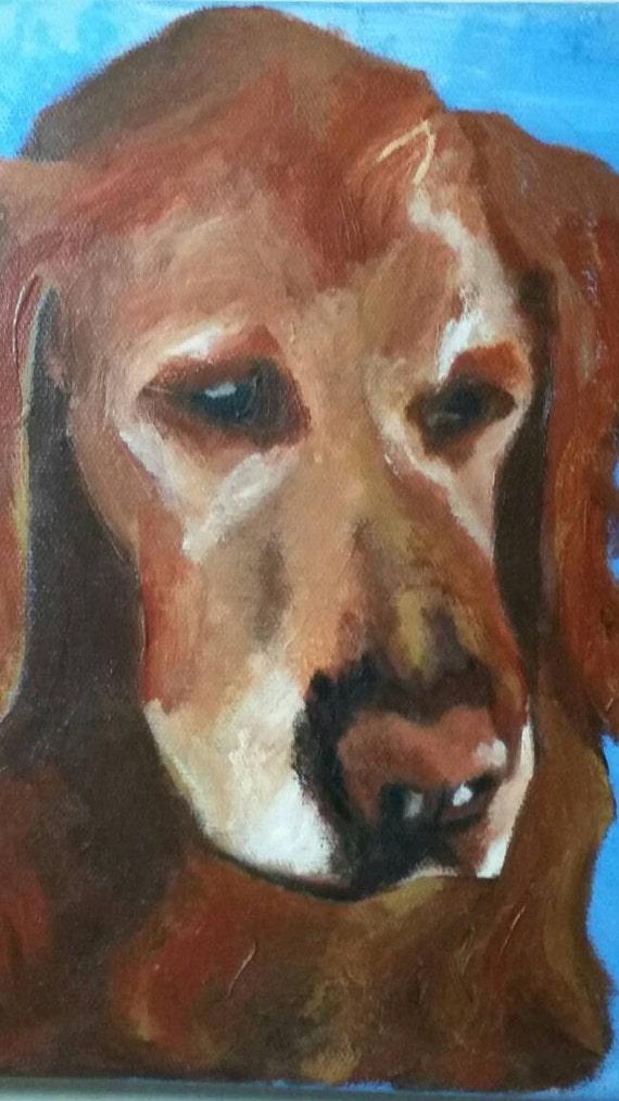 Golden Retriever Oil Painting Original Art Etsy