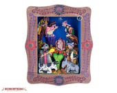 Handcrafted Plaster Wall Retablo from Peru, quot Christmas in the Andes quot - Collectible Peruvian Multicolor Retablo wall art - Plaster Wall Art