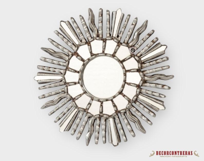 0ac9ea2713db Small Sunburst Wall Mirrors 11.8 Round mirror set 2