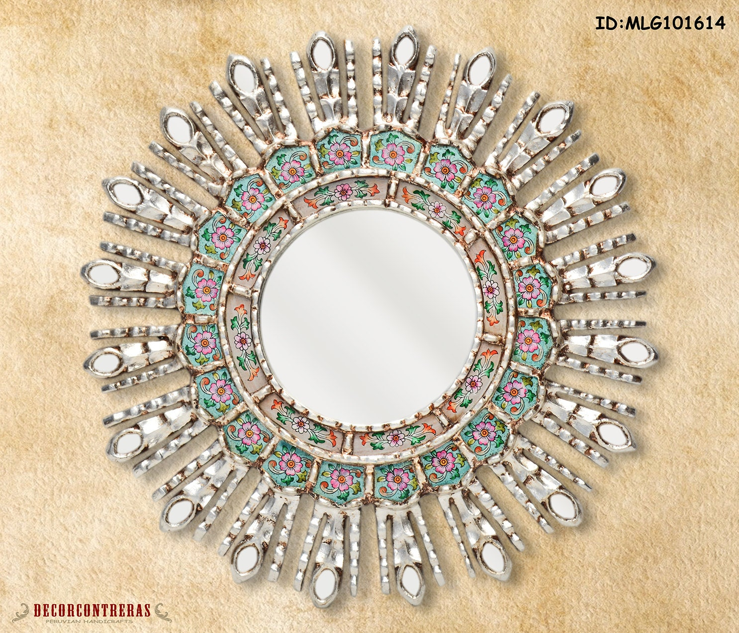 Silver Decorative Mirrors 17 7 Mirror Cuzco Style Etsy