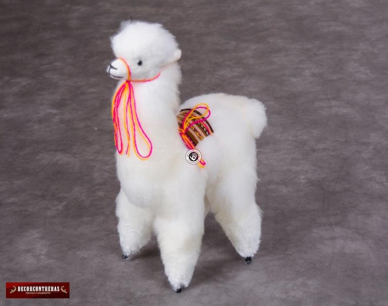 48112ccd3 Peluche de llama hecho a mano en Baby Alpaca Peluche de
