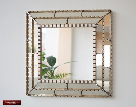 Silver Wall Mirrors Decorative.Silver Decorative Accent Mirror Wall 18 1 From Peru Bathroom Square Mirror For Wall Decor Peruvian Vanity Mirror With Silver Wood Framed