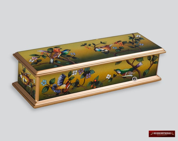 Handcrafted Glass Jewelry box  Spring Birds  from  fb3c56367d