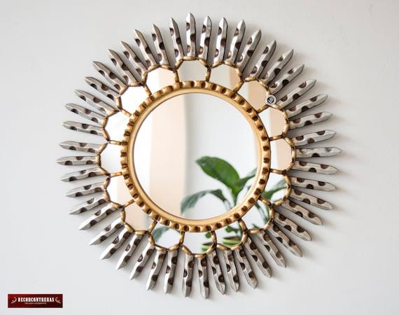 Peruvian Round Sunburst Mirror 17 7, Round Sunburst Mirror