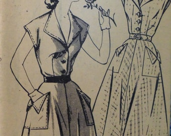 """UNUSED Vintage 1950s Mail Order I Love Lucy DRESS Pattern size 40"""" Bust"""