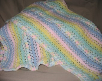 Hairpin Lace Baby Afghan