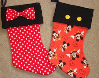 Disney Mickey-inspired Christmas Stocking