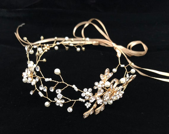 Gold Crown, Silver Bridal Crown, Flower Girl Crown, Crystal Crown, Wedding Silver Crown, Bridal Headband, Wedding Crown, Flower Girl Crown