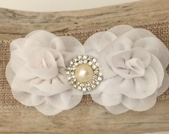 White Baby clip, Small Baby Clip, White, Ivory, Pale Pink, Coral, Mint Flower Pearl Clip, Baby Headband, Baptism Headband, Holiday H