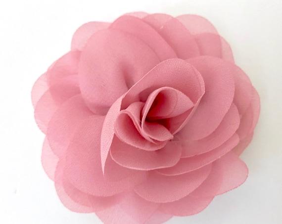 Dusty Pink Rose Hair Clip, Mauve Pink Hair Clip, Ivory Flower Clip, Navy Hair Clip, Hot Pink Flower Clip, Bridal Flower Girl Hair Clips