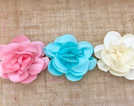 Floral Hair Clip,Flower Girl Hair Clip, Floral Hair Accessories, Ivory, White, Mint, Pink Floral Hair Clip for  girls, baby Flower Clip