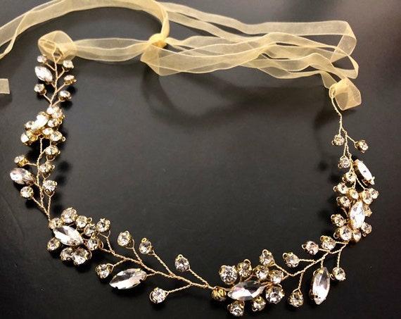 Gold Flower Crown, Flower Girl Crown, Silver Crown, Gold Flower Crown Wreath, Silver Wedding Crown Birthday Halo Communion Crown