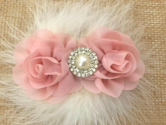Floral Hair for Girls, Flower Girl Clip, Blush Pink ,Rose Gold Hair clip, Ivory clip, White clip, Dumb Pink clip, Dusty Rose Hair Clip,