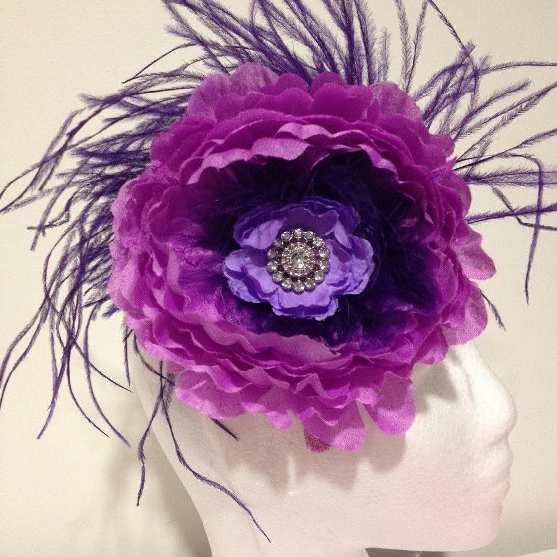 Flower Fascinator Feather Headband Fascinator Feather Headband