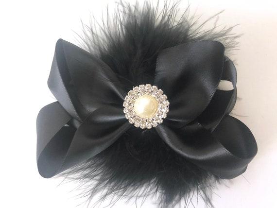 Black Hair Bows,Christmas Hair Bows, Black, Red, Green Satin  Hair Bows, All Colors, White, Black,Ivory,Navy,Pink, Silver Bows