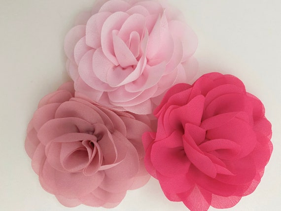 Flower Girl Hair Clips, All Colors, Ivory, White, Navy,Pink, Coral,Peach,Blush Hair Clips, Dusty Rose Floral Hair Clips, Custom Flower Girl