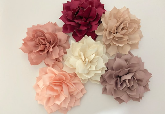 Wedding Flower Hair Clips, Blush Flower Clip, Beige Flower Clip, Dusty Rose Clip, Taupe Hair Clip, Easter Flower Hair Clip, Floral Hair Clip