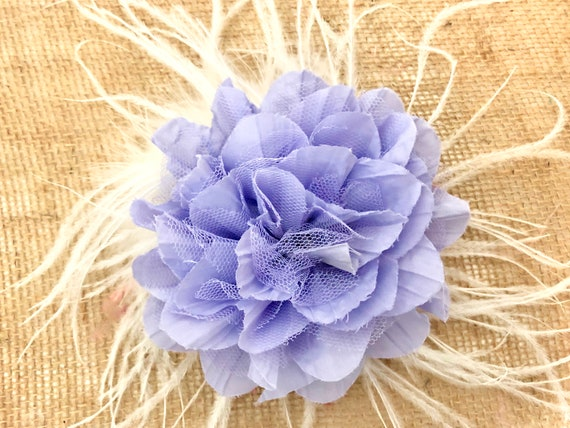 Lilac Lavender Floral Fascinator, All color Floral Feather Hair Clip, Ivory, White, Purple, Yellow, Red,Teal, Blue, Pink Mint, Dusty Rose