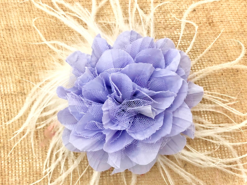 48a007ab2c6a Lilac Lavender Floral Fascinator All color Floral Feather