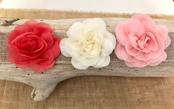 Blush Hair Clip, Wedding Flower Hair Clip,Flower Girl Blush Clip, Bridal Hair Clip, Ivory, Dusty Rose Floral Hair Clip,