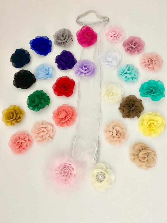 Baby Girl Hair Clips, Blossom Flower Clips, Chiffon Baby Barrette, Flower Hair Clippies,  Baby Barrette, Girls Hair Bow Holder Gift Set