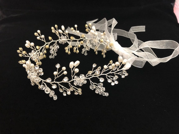 Communion Crown, Crystal Crown Wreath, Silver Bridal  Crown, Gold Crystal Crown,Flower Girl Silver Crown, Crystal Gold Wreath, Diamond Crown