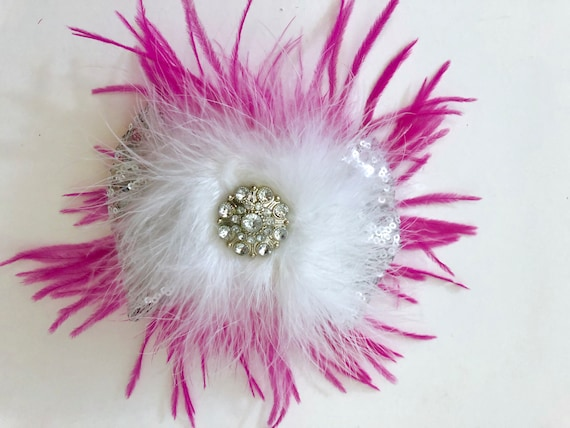 Dance Costume Hair Accessories, Feather Hair Clips, All Colors, Feather Hair Clips, Pink, Purple, Black, White, Hot Pink Hair Clip