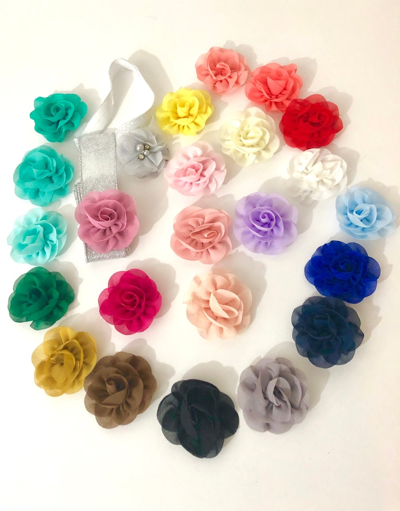 Chiffon Baby Barrette Flower Hair Clippies Baby Barrette Baby Girl Hair Clips Girls Hair Bow Holder Gift Set Blossom Flower Clips