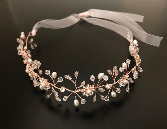 Christmas Crown, Rose Gold Flower Crown, Silver Flower Crown, Gold Flower Girl Crown Wreath, Wedding Bridal Crown, Christmas Crown Wreath