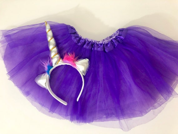 Unicorn Birthday Gift Set, Unicorn Headband Tutu Birthday Gift, Birthday Girl Tutu, 2 piece Birthday Gift Set, Gifts for Girls, Fancy Girl