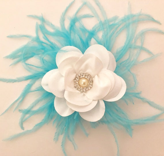 White Flower Hair Clip, Wedding Bridal Flower Clips, Custom Floral White Clip, Flower Girl Clip, Communion Hair Clip, Dance Costume Clip